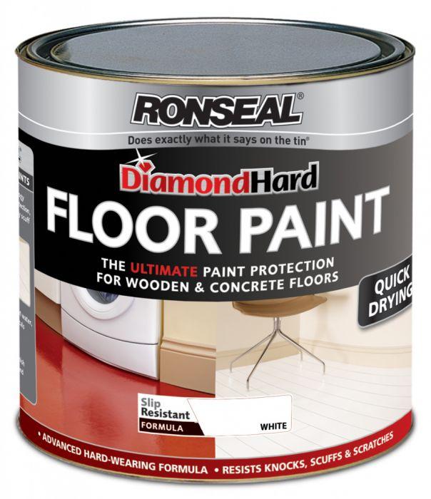 Ronseal Diamond Hard Floor Paint 2.5L White Satin