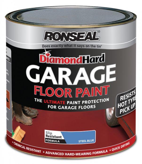 Ronseal Diamond Hard Garage Floor Paint 5L Blue