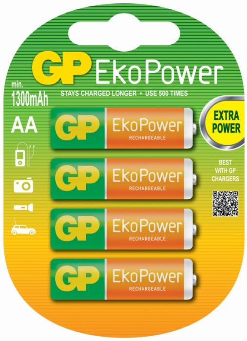 GP AA EkoPower Batteries Pack 4