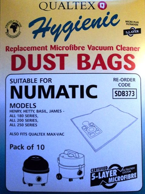 Numatic Henry AS200 Microfibre Bags Pack of 10