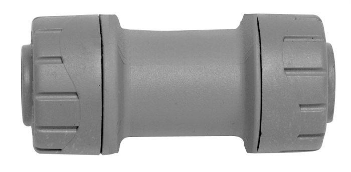 Polyplumb Straight Coupler Grey 22mm