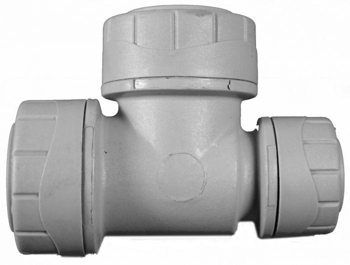 Polyplumb Reducing Tee Grey 22 x 22 x 15mm 22mm