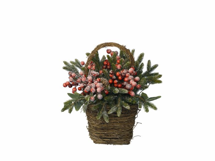 Basket With Berries & Snow