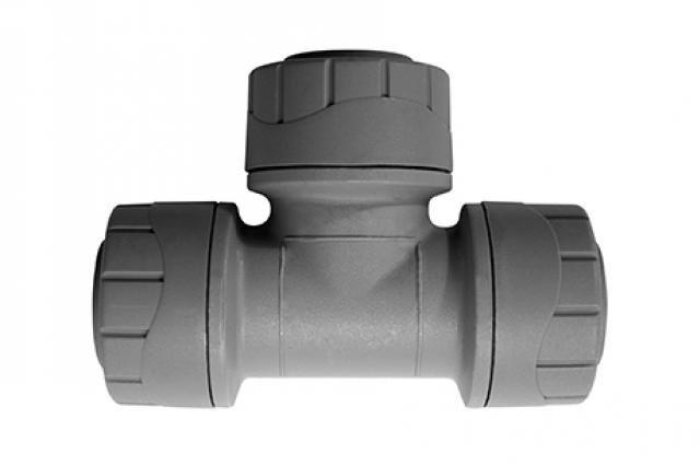 Polyplumb 15mm Equal Tee Grey PPM215