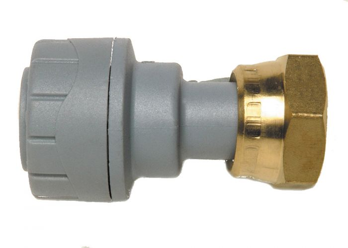 Polyplumb 15mm 1/2 Straight Tap Connector Grey PPM715