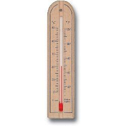 Brannan Short Wall Thermometer Wood