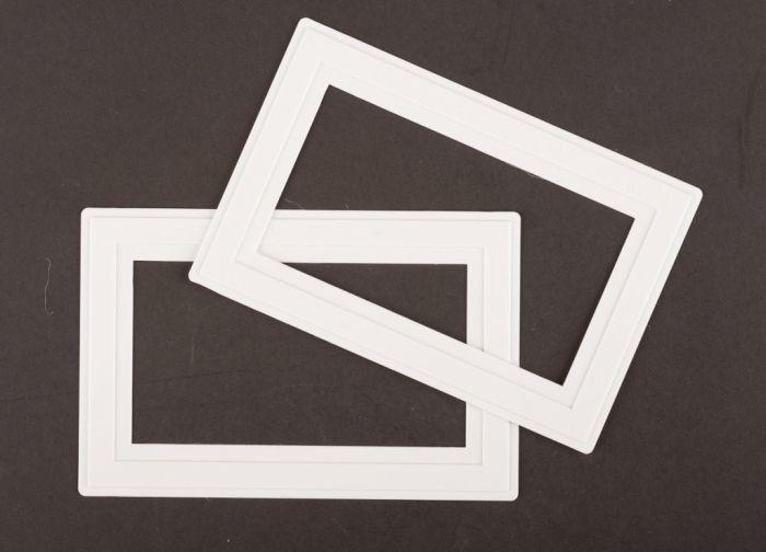 Dencon White Finger Plate for 2Gang Socket Pre-Packed (2)
