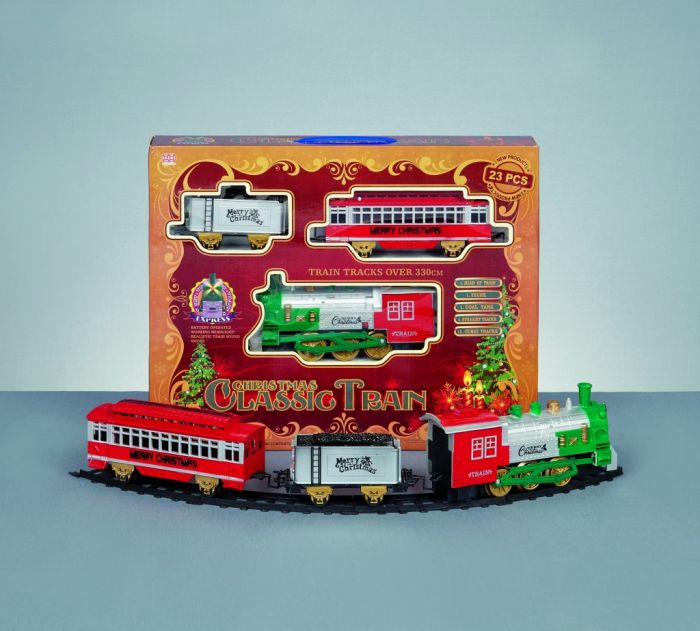 Battery Operated Xmas Train Set With Sound