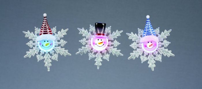 Battery Operated Led Snowflake