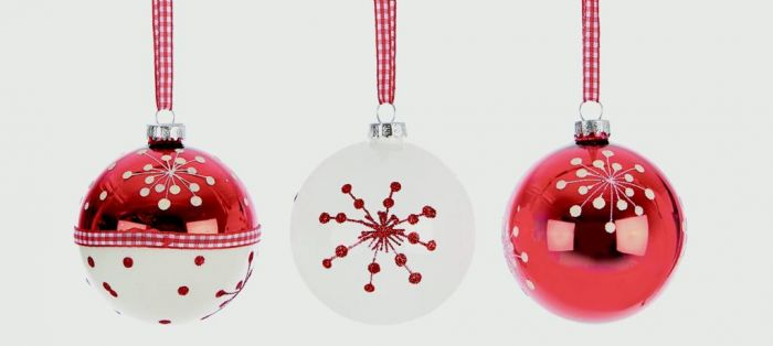 Decorated Glass Ball Assorted