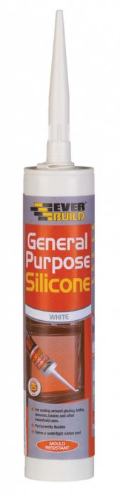 Everbuild General Purpose Silicone C3 White 310ml