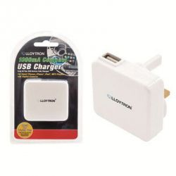 Lloytron Compact USB Charger 1000m White