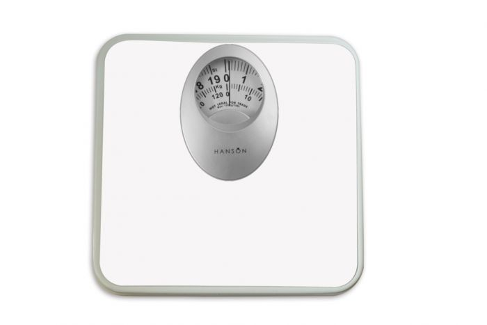 Terraillon Mechanical Bathroom Scale With Mag Disp White 120kg