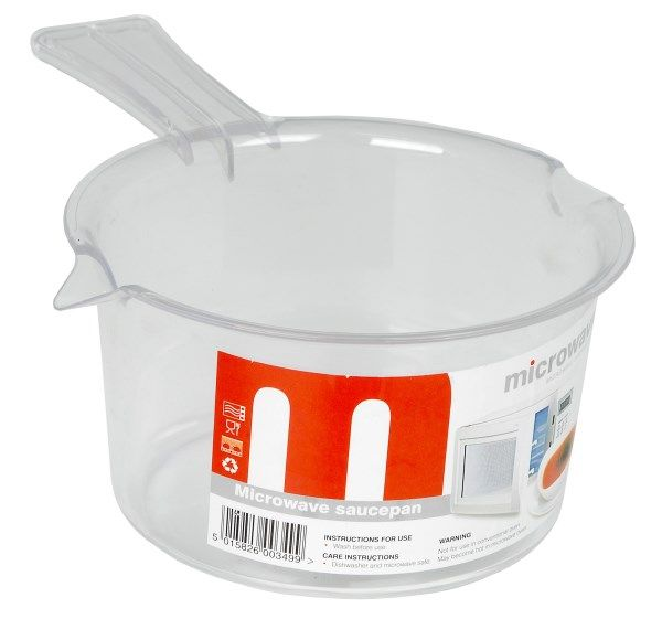 Microwave It Polly Prop Sauce Pan 500ml White