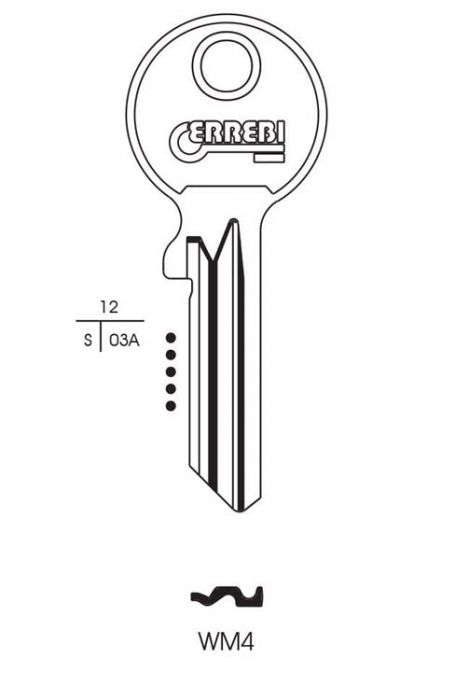 RST Wms Cylinder Key Blank Pack 10