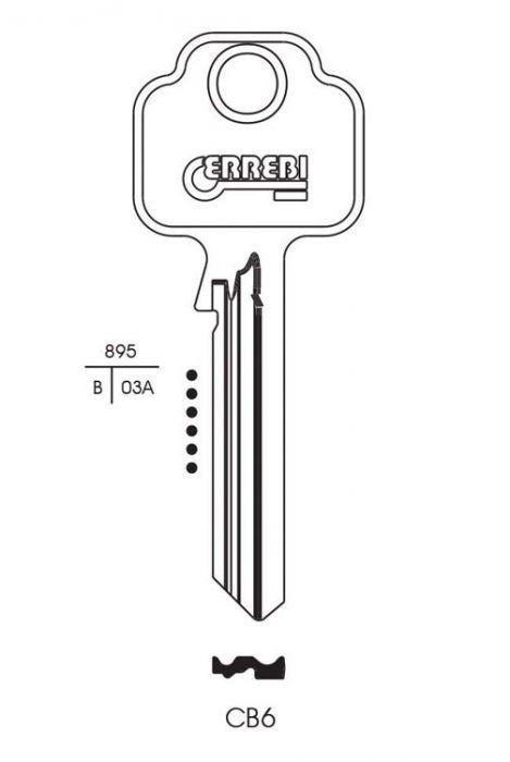 RST Chubb Cylinder Key Blank Pack 10