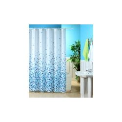 Blue Canyon Mosaic Shower Curtain White