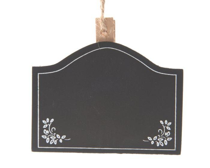 Kaemingk MDF Blackboard On Peg 6 x 8 Black