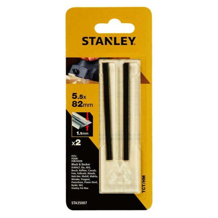 Stanley TCT/HM Planer Blades 82mm Pack 2