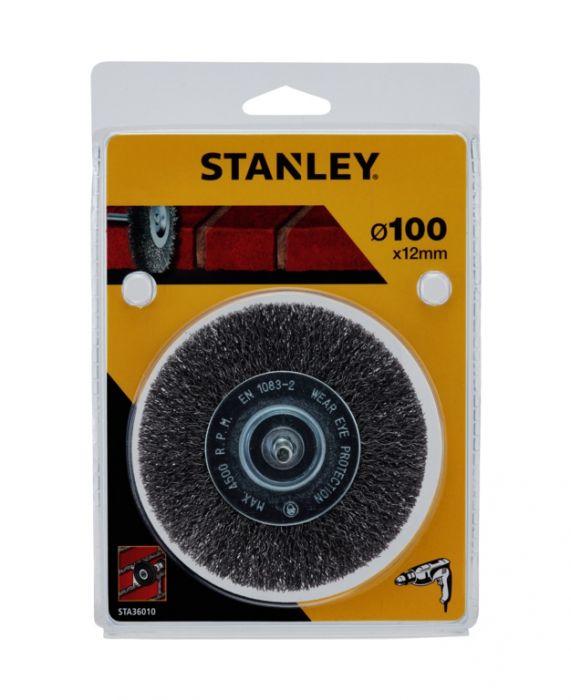 Stanley Crimped Steel Wire Brush 100mm