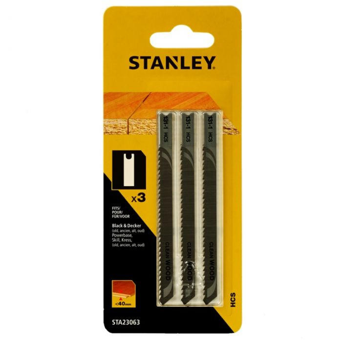 Stanley U-Shank HSC Jigsaw Blade Pack 3