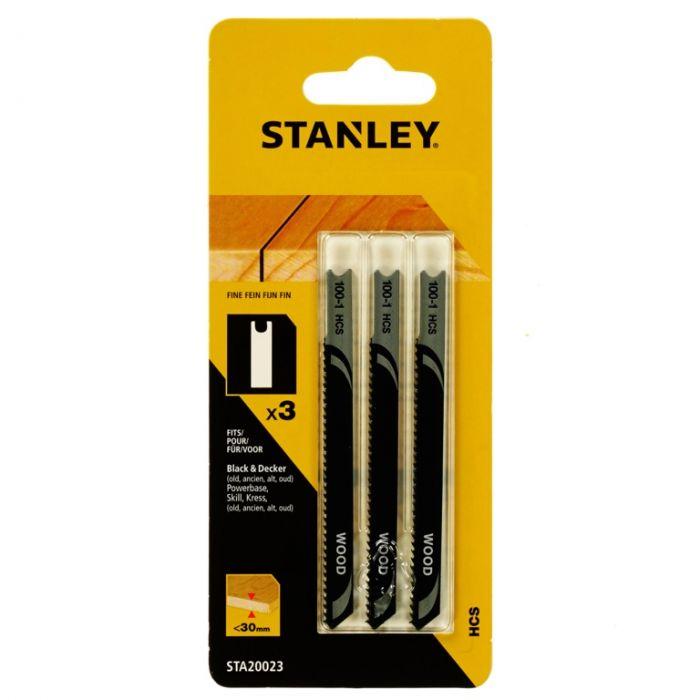 Stanley Ultra Fine Wood Jigsaw Blade Pack 3