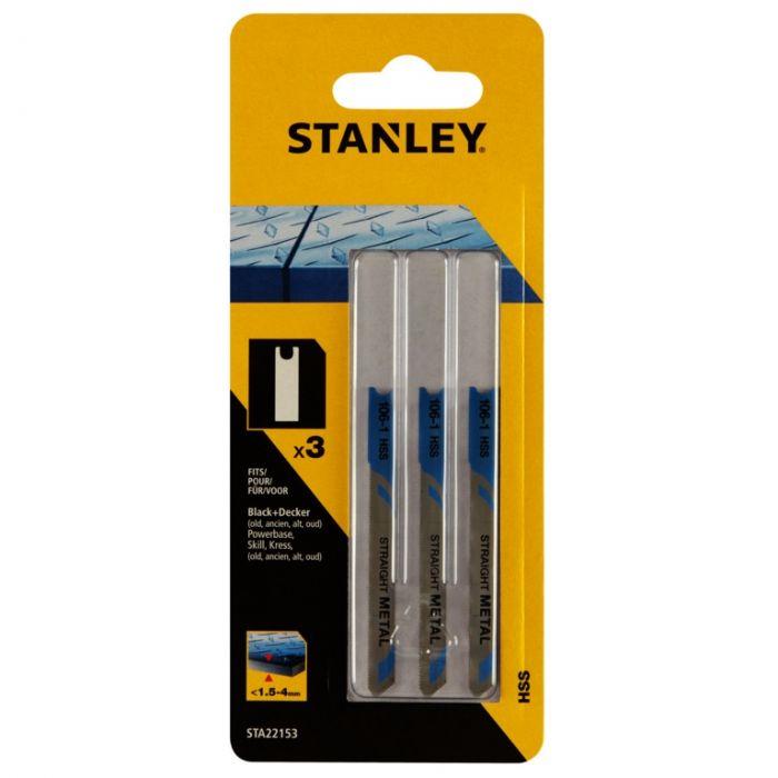 Stanley U-Shank HSS Jigsaw Blade 70mm Pack 3