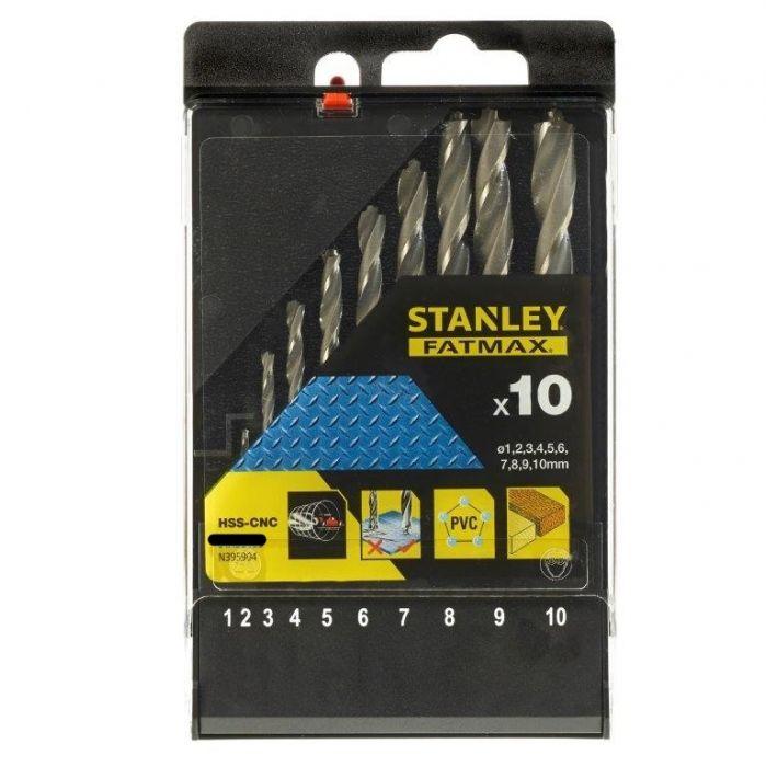Stanley Hss-Cnc Drilling Set 10pce