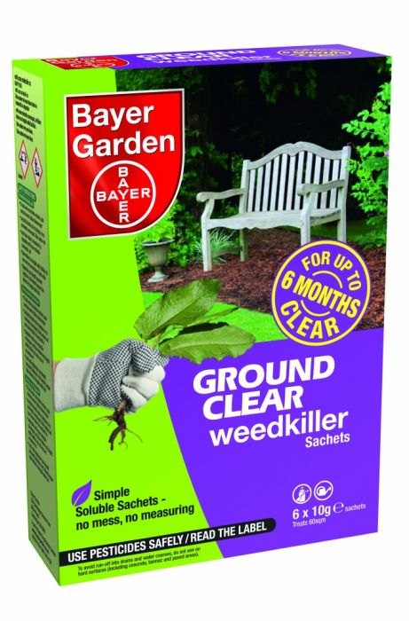 Bayer Ground Clear Weedkiller Concentrate 6 Sachet