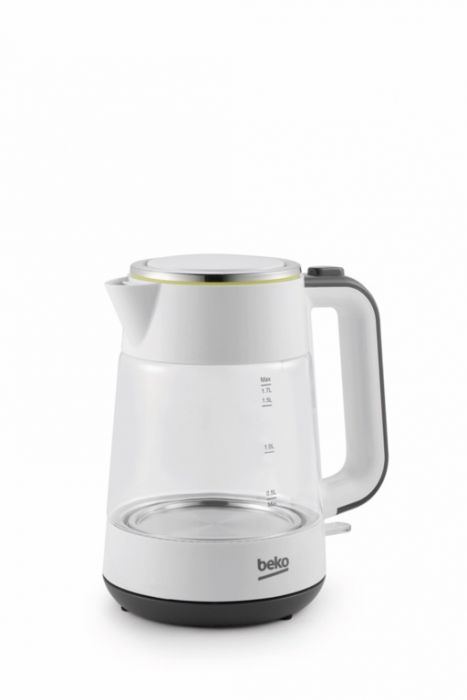 Beko New Line White Glass Kettle 2400W 1.7L