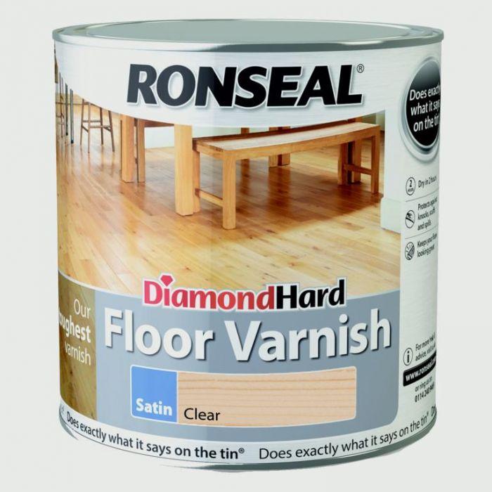 Ronseal Diamond Hard Clear Varnish 2.5L Varnish Satin