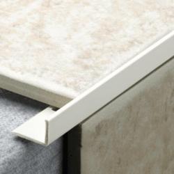 Tile Rite L Profile Trim 10Mm X 2.44M White Plastic