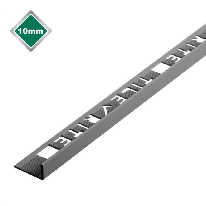 Tile Rite L Profile Trim 10Mm X 2.44M Grey Plastic