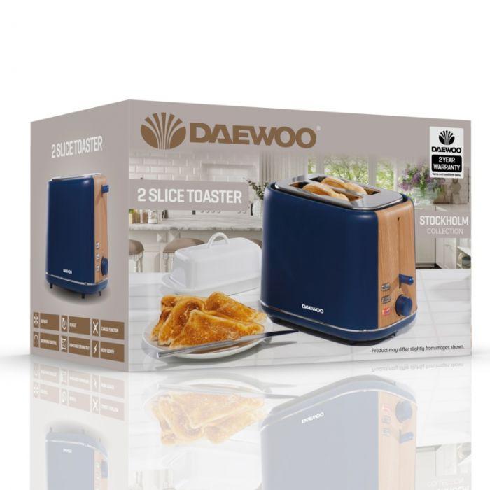 Daewoo Stockholm Toaster 2 Slice Navy