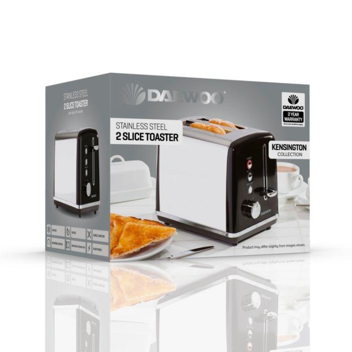 Daewoo Kensington Toaster 2 Slice Black
