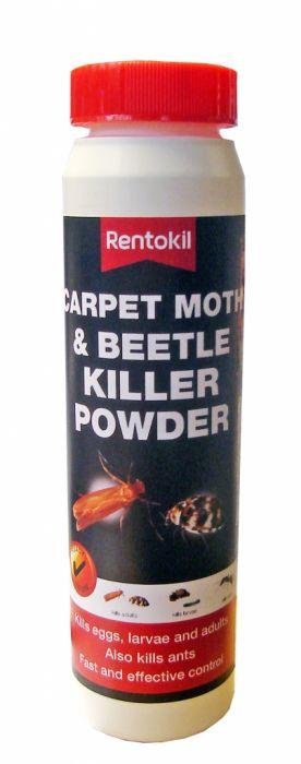 Rentokil Carpet Moth & Beetle Killer Powder 150G