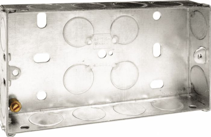 Bg Metal Back Box 25Mm Double