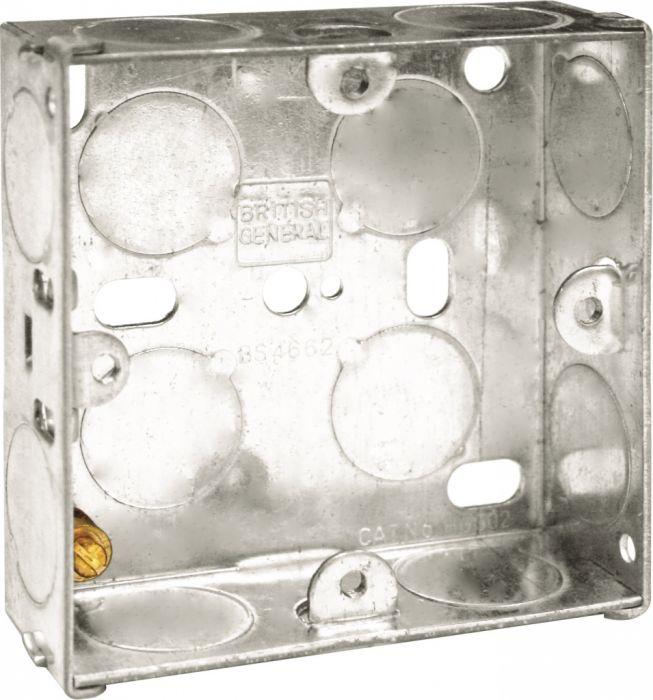 Bg Metal Back Box 25Mm Single