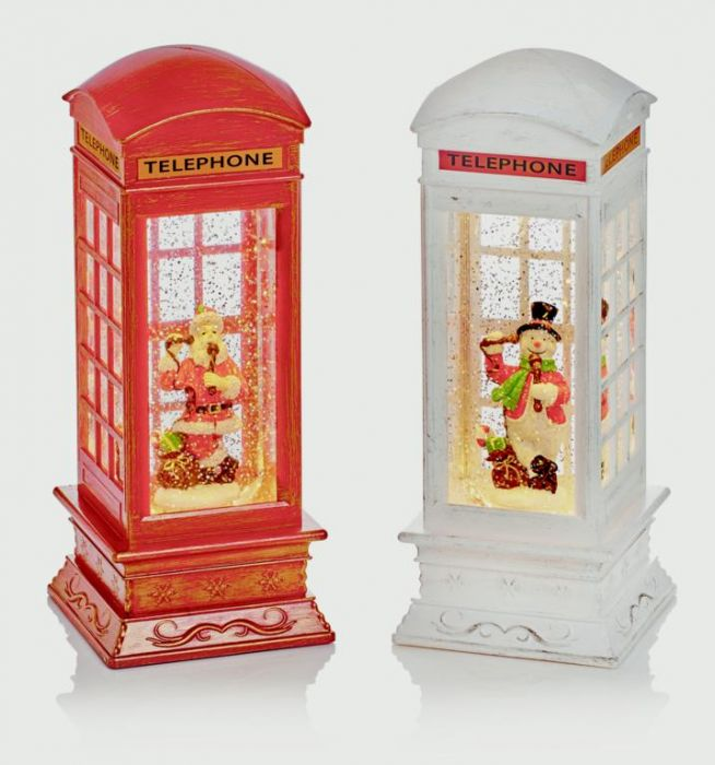 Phone Box Water Spinner Santa