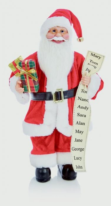 Standing Santa With Glasses