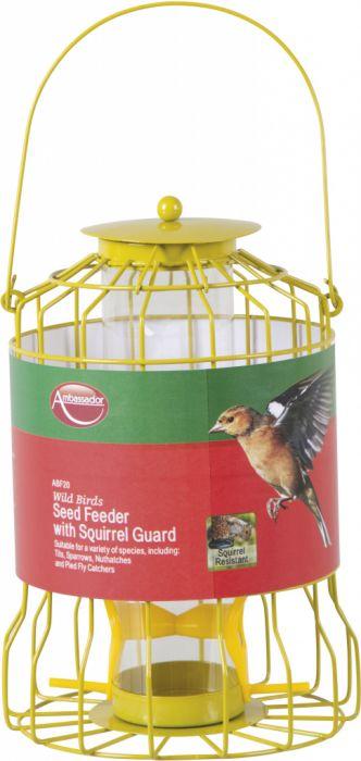 Ambassador Wild Birds Seed Feeder With Squirrel Guard