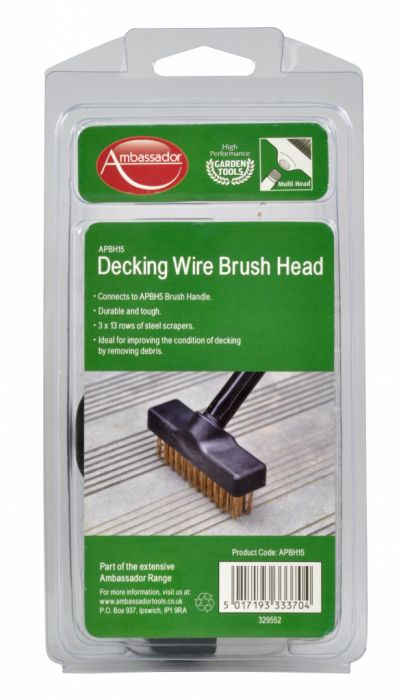 Ambassador Decking Wire Brush Head