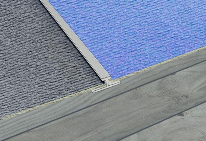 Supadec Aluminium Carpet To Carpet Strip 900 X 45Mm