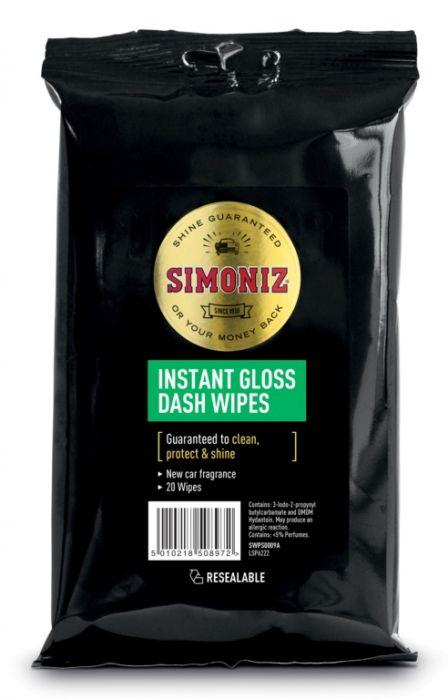 Simoniz Dashboard Wipes Gloss Pack 20