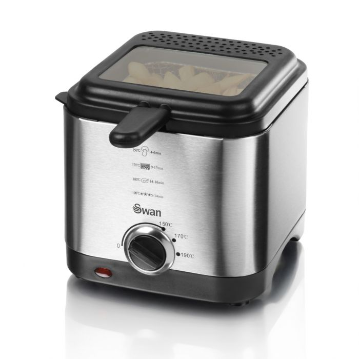 Swan Deep Fat Fryer Stainless Steel 1.5L
