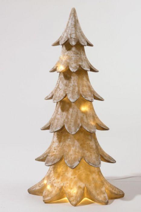 Led Polyresin Xmas Tree Warm Whte