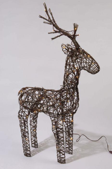 Led Wicker Deer