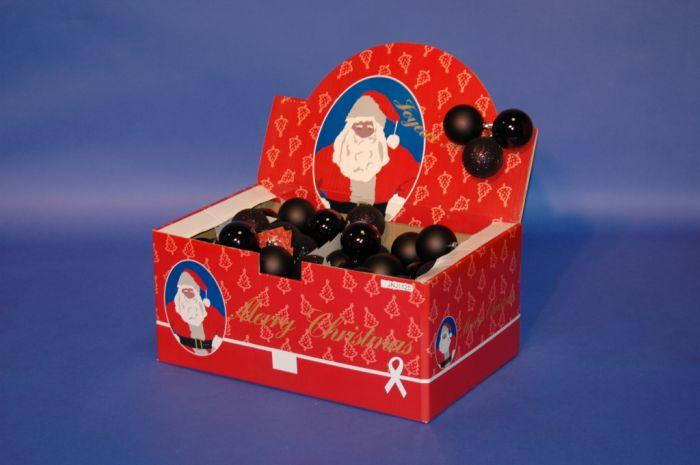 Black Baubles 3 Pack