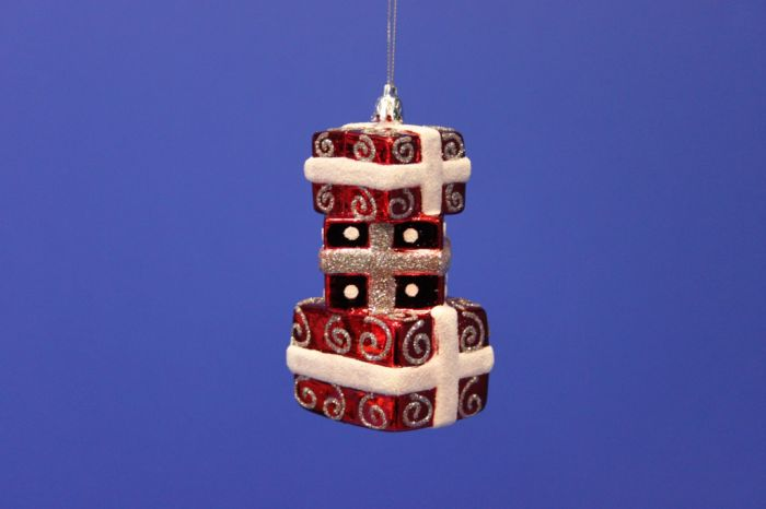 Red/White Parcel Tree Decoration