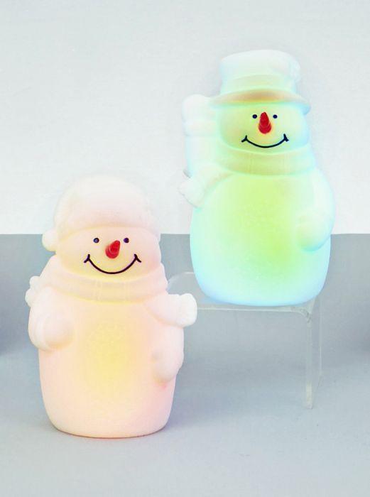 Lit Coloured Snowman